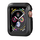 HONEJEEN Compatible with Apple Watch Case Series 4 40mm, Shock Proof and Shatter-Resistant Protective Bumper Case Replacement for iWatch Series 4 - Black (Color: Black, Tamaño: 40mm)