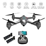 LUCKSTAR RC Drone with 1080P HD Camera- MJX Bugs 2 SE GPS Drone Brushless Motor, GPS Four-axis Aircraft, 5G WiFi Map Remote Control Aircraft with Two Battery (Two Battery)