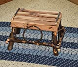Rustic Hickory Foot Rest *ALL HICKORY* Amish Made USA