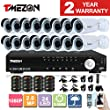 TMEZON 16CH 1080N AHD DVR Video Surveillance System + 16 Pcs Waterproof Outdoor HD 2000TVL 2.0MP Bullet Cameras Home Security Kit (No HDD)