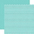 Echo Park Totally Teal Chevron 12x12 Paper