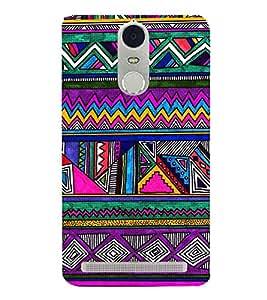 Multi Colour Pattern 3D Hard Polycarbonate Designer Back Case Cover for Lenovo K5 Note :: Lenovo Vibe K5 Note Pro