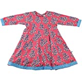 Child's Fuschia Paisley Block Print Dress