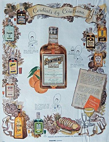 cointreau-vintage-print-ad-50s-color-illustration-cordials-by-cointreau-original-rare-esquire-magazi