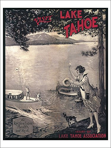 Lake Tahoe, California - Wooden Boat Poster (Playing Card Deck - 52 Card Poker Size with Jokers)