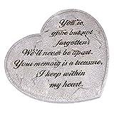 Gone But Not Forgotten Bereavement Memorial Heart Garden Stone