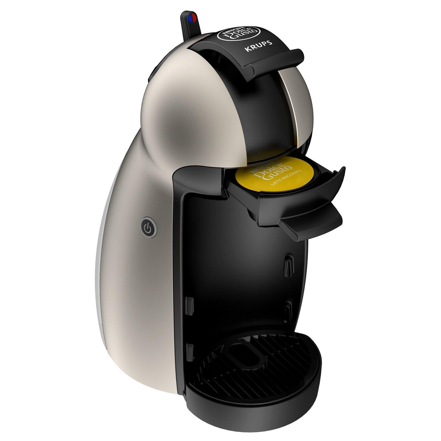 coffee machine krups nescafe dolce gusto piccolo espresso coffee machine kp10. Black Bedroom Furniture Sets. Home Design Ideas