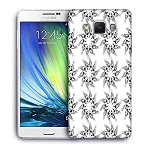 Snoogg Mix Pattern White Printed Protective Phone Back Case Cover For Samsung Galaxy A7