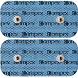 Compex Easy Snap Electrodes 2in x 4in for Edge, Performance, Sport Elite, Wireless Muscle Stimulators - 5 Pack (10 Electrodes) - Black (Color: Blue, Tamaño: 2
