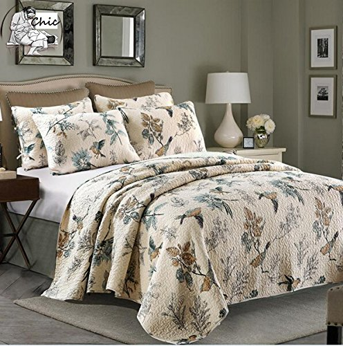 Bird Print American Country Comforter Set