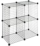 Whitmor 6070-1723 4 Storage Cubes, Black