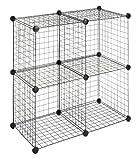 Whitmor 6070-1723 4 Storage Cubes, Black