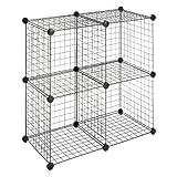 Whitmor 6070-1723 4 Storage Cubes, Black ~ Whitmor
