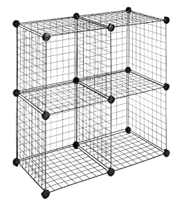 Amazon.com - Whitmor 6070-1723 4 Storage Cubes, Black - Closet Shelves