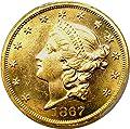 1867 P $20 Liberty Gold Twenty Dollar MS62 PCGS