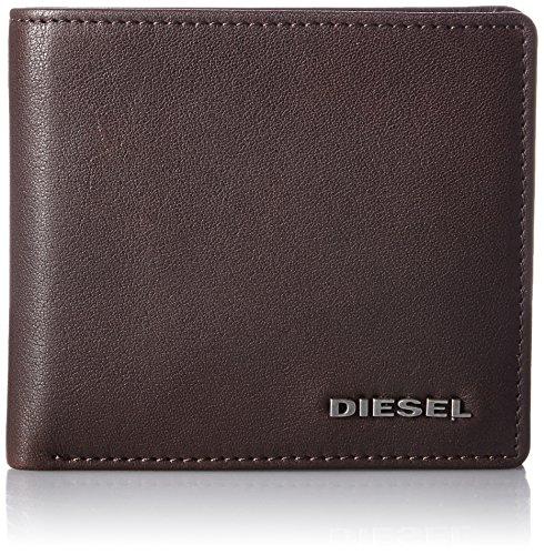 Diesel Nina S Tasca Portamonete In Pelle Portafoglio Uomo Marrone Con Interni Color Kaki Unica Taglia