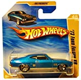 73 FORD FALCON XB  Bright Metallic Blue    2010 Hot Wheels  048 214  HW Premiere  48 52  1 64 scale car on SHORT CARD