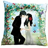 Wedding Gift Sweet Kiss 3D Stamped Cross Stitch Cushion