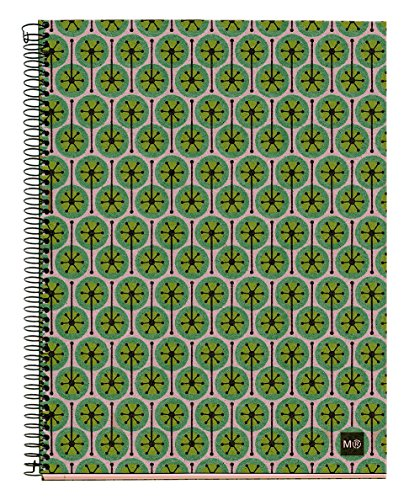 basicos-mr-2745-notebook-4-colours-a5-120-sheets-squared-ecopistils-recycled