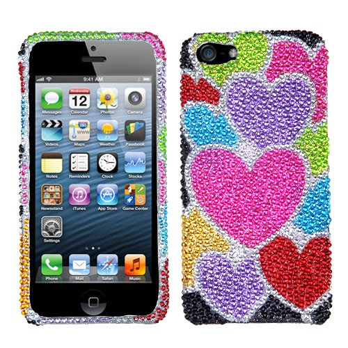 Apple iPhone 5 Hard Plastic Snap on Cover Heart