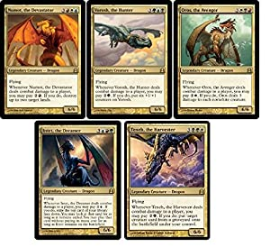 Magic: The Gathering Commander Legendary Dragons Set! 5 Card Collection Lot MTG Cards