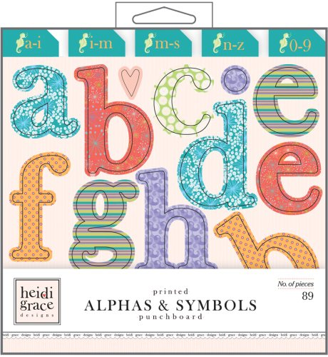 Fiskars Heidi Grace Designs Punchboard Shapes Box Sets Beyond the Sea Alphas and Symbols