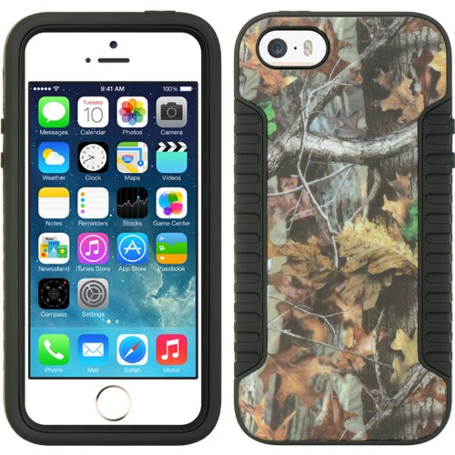 iPhone 5 Case - Loggerhead Camo Tree Hybrid Shockproof Protective Case Cover for Apple iPhone 5 5s - Retail Packaging