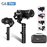 Feiyu G6 Plus 3-Axis Splash-Proof Handheld Gimbal Stabilizer (G6 Upgrade Ver 2018) for Gopro,Yi Cam 4K,Sony Rx0,iPhone X 8 7 Plus,Samsung S9 S8,Mirrorless Pocket Cameras 800g Payload,12H Running Time (Color: G6 PLUS, Tamaño: G6 PLUS)