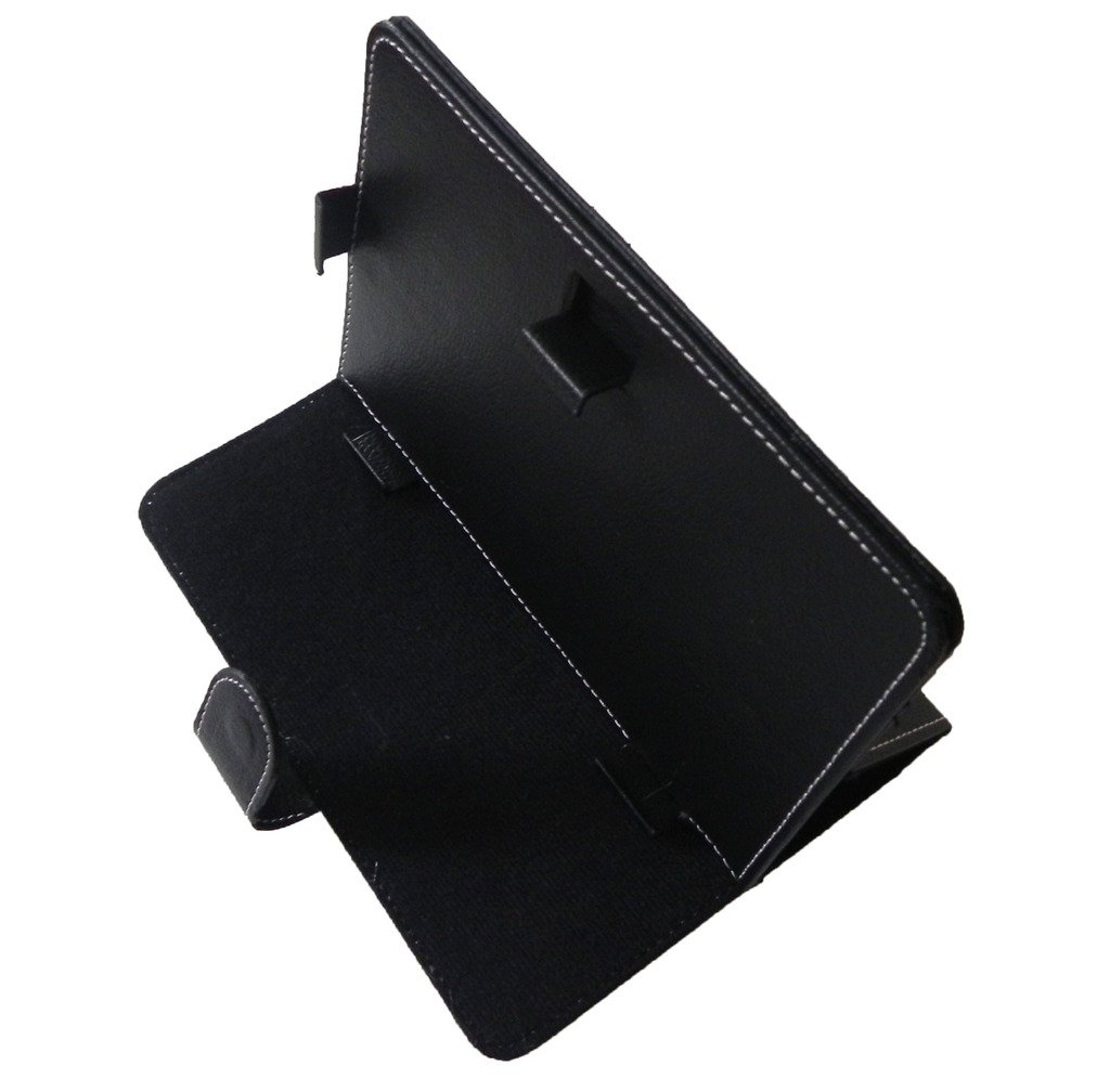 """Black Universal 7 Inch 7"""" Faux Leather Stand Protector Case Cover for Tablet PC"""
