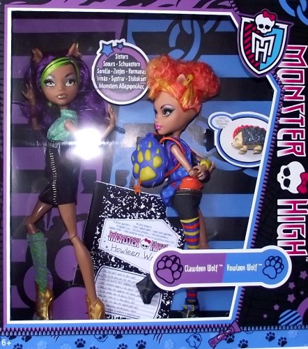 Monster High Dolls Howleen Wolf & Clawdeen Wolf