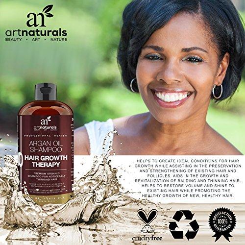 Art Naturals Organic Argan Oil Hair Loss Shampoo for Hair Regrowth ...