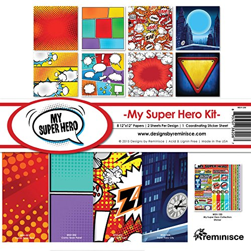 Reminisce My Super Hero Collection Kit (Color: Multicolor, Tamaño: 12 by 12)