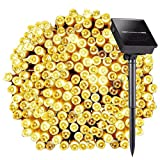 8 Modes 72ft 200 LED Solar String Lights, Satu Brown Fairy Waterproof Outdoor Decorative Lights for Garden, Patio, Yard, Home, Christmas Tree, Parties(Warm White)