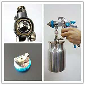 Professional HVLP Siphon Feed Spray Gun 1L Non-drip Paint Cup with Nozzle Tip Size 1.7mm (Tamaño: HVLP-S1.7mm)