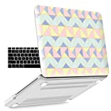 iBenzer Old MacBook Pro 13 Inch case A1278, Soft Touch Hard Case Shell Cover with Keyboard Cover for Apple MacBook Pro 13 with CD-ROM, Angle Quartz MPD13AGQZ+1 (Color: Angle Quartz, Tamaño: Previous Generation MacBook Pro 13'' A1278)