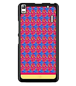 PrintDhaba Typography D-1915 Back Case Cover for LENOVO A7000 (Multi-Coloured)