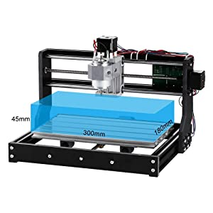 Uttiny CNC Router Kit, Upgraded 3018 Pro 3 Axis Engraver With Offline Feature Used As GRBL Control DIY Mini CNC Machine For Plastic Acrylic PVC Wood Carving And Milling