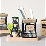 HEYFAIR Japanese Anime Totoro Style Pen Pencil Holder Desk Organizer Unique Gift