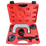 MILLION PARTS 3-in-1 6pc Ball Joint U-Joint C-Frame Press Service Tool Kit Auto Repair Remover Installer Extractor Removal w/case