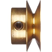 "Boston Gear G1215 Grooved Pulley, Fits Round Belts 0.1875"" or Smaller, 0.250"" Face, Brass"