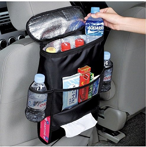 Jackey AwesomeCar Seat Organizer/Auto Seat Back Organizer/Multi-Pocket Travel Storage Bag/Insulated Car Seat Back Drinks Holder Cooler / Storage Bag Cool Wrap Bottle Bag with Mesh Pockets