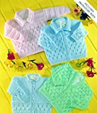 UK Hand Knit Association Baby Cardigans & Sweaters 4 Ply Knitting Pattern UKHKA6