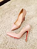 CL Red sole patent leather nude pigalle pumps