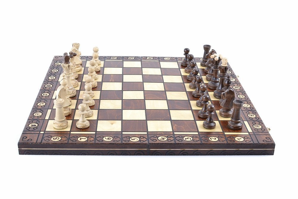 Wegiel Chess Set - Consul Chess Pieces and Board - European Wooden Handmade Game 1