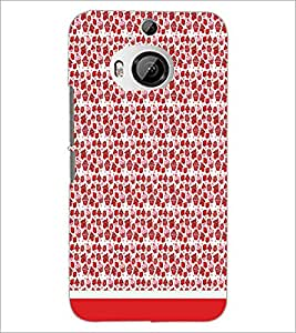 PrintDhaba Pattern D-1767 Back Case Cover for HTC ONE M9 PLUS (Multi-Coloured)