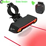 Meilan Bike LED Light Smart Wireless Bicycle Brake Light USB Rechargeable Lights for Bikes Mountain Bike Road Cycling Safety Rear Turn Signal Light