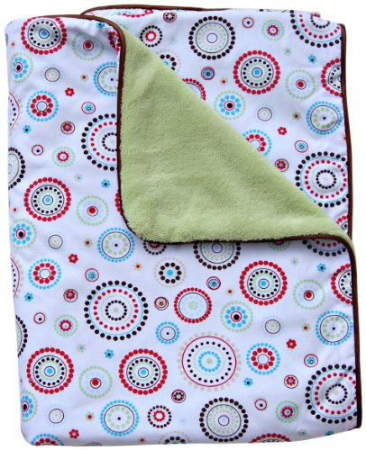 Caden Lane Classic Collection Circle Dot Piped Blanket, Red