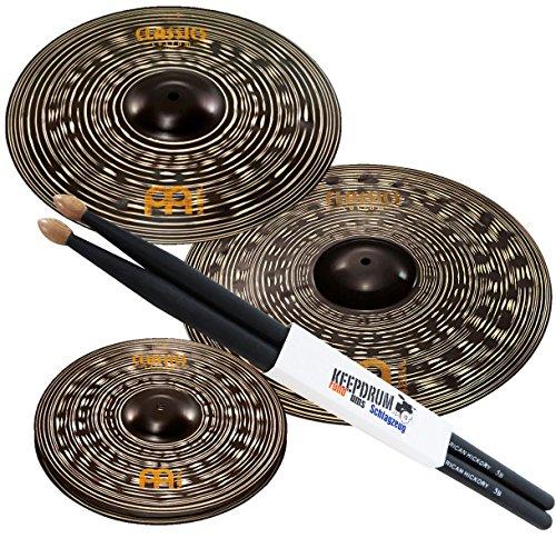 meinl-classics-custom-dark-set-di-piatti-ccd141620-14hh-16-20-keep-drum-drum-sticks-5bb-custodia