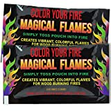 Magical Flames 25-pack: TWICE THE COLOR, half the price! Creates Vibrant, Rainbow Colored Flames - 30day Money Back Guarantee