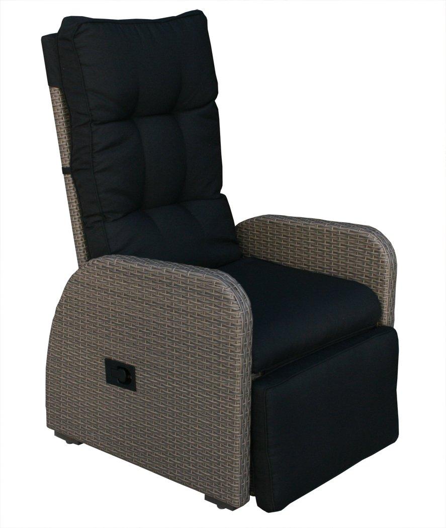 """KMH®, Polyrattan Liegestuhl """"Bob"""" inklusive Auflage! (braun bi-color / 2 String) (#106048) jetzt bestellen"""